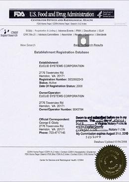 美国食品和药品管理局(FDA)认证